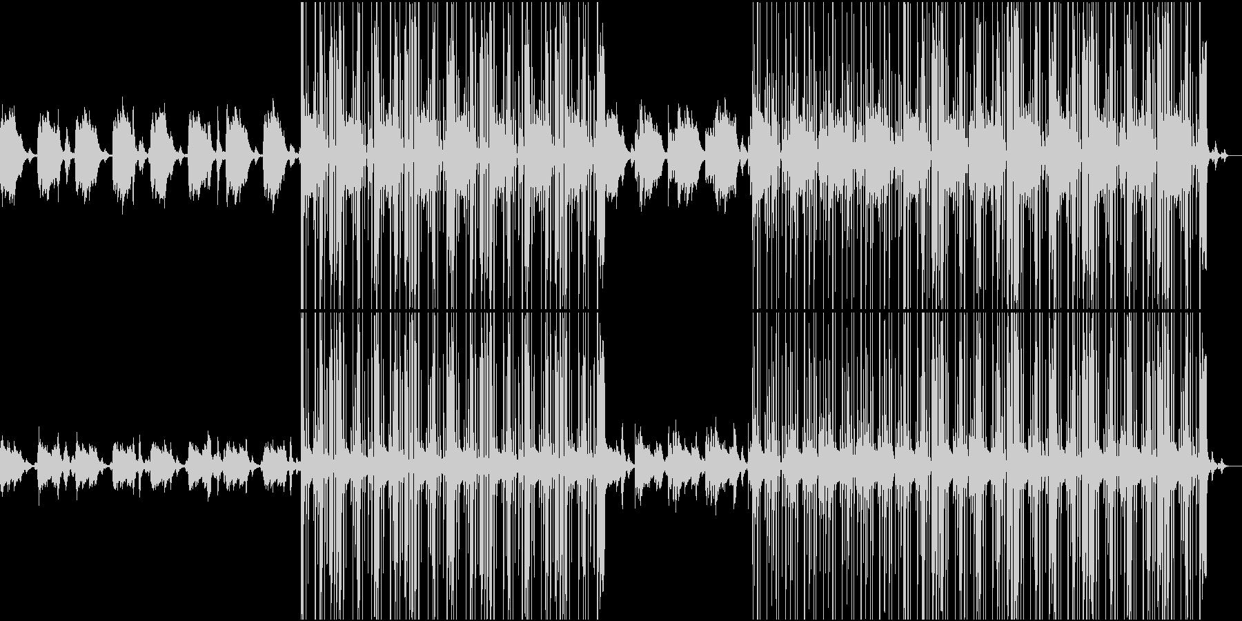 寂しげなエレクトロニカHiphop風の未再生の波形