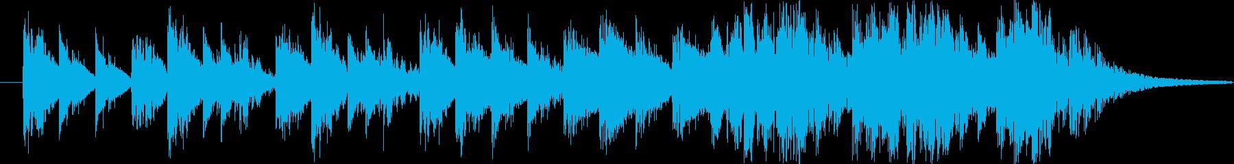 のびのび緩やか系で、印象的なコミカルな曲の再生済みの波形