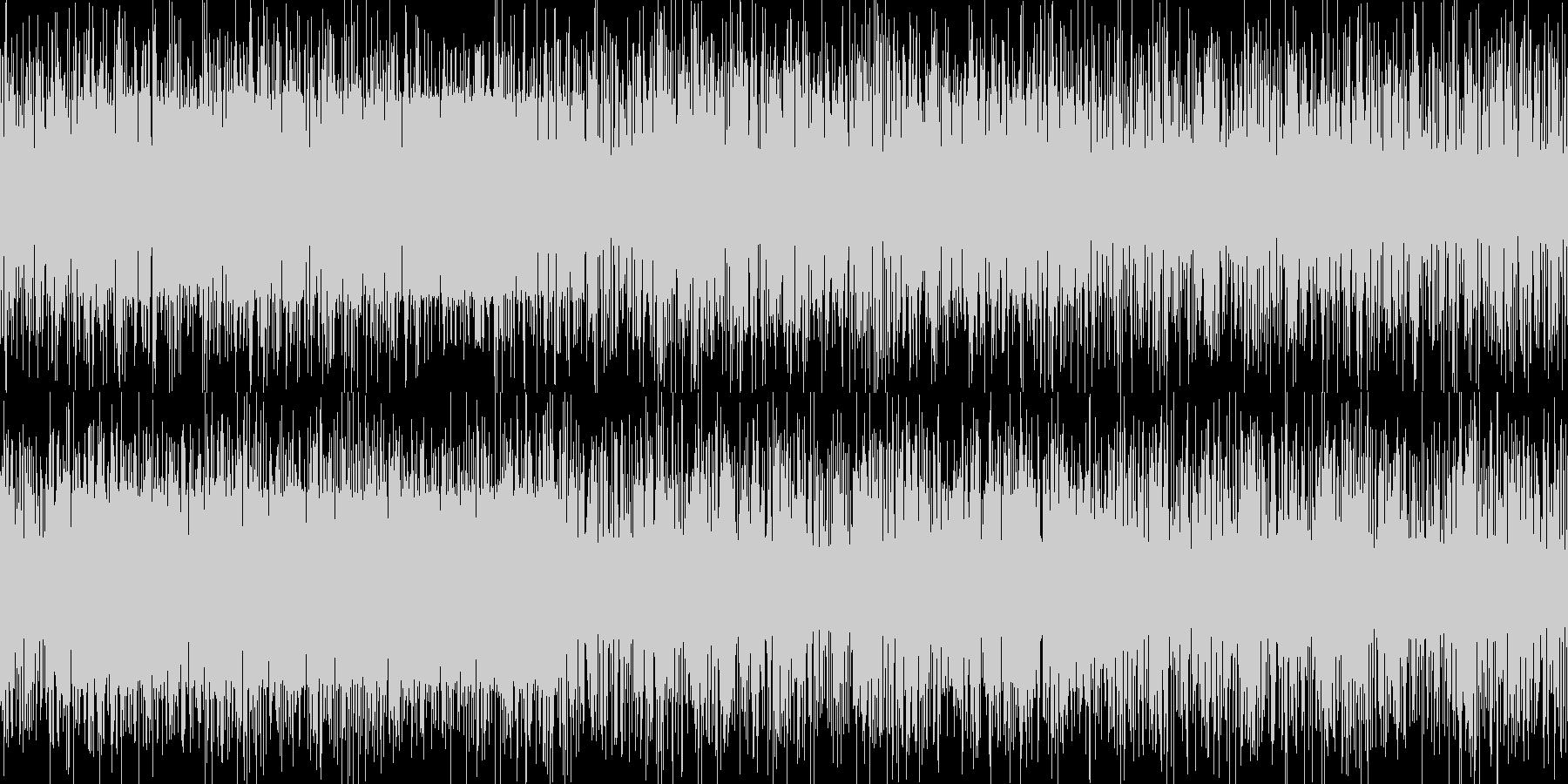ザー音の未再生の波形