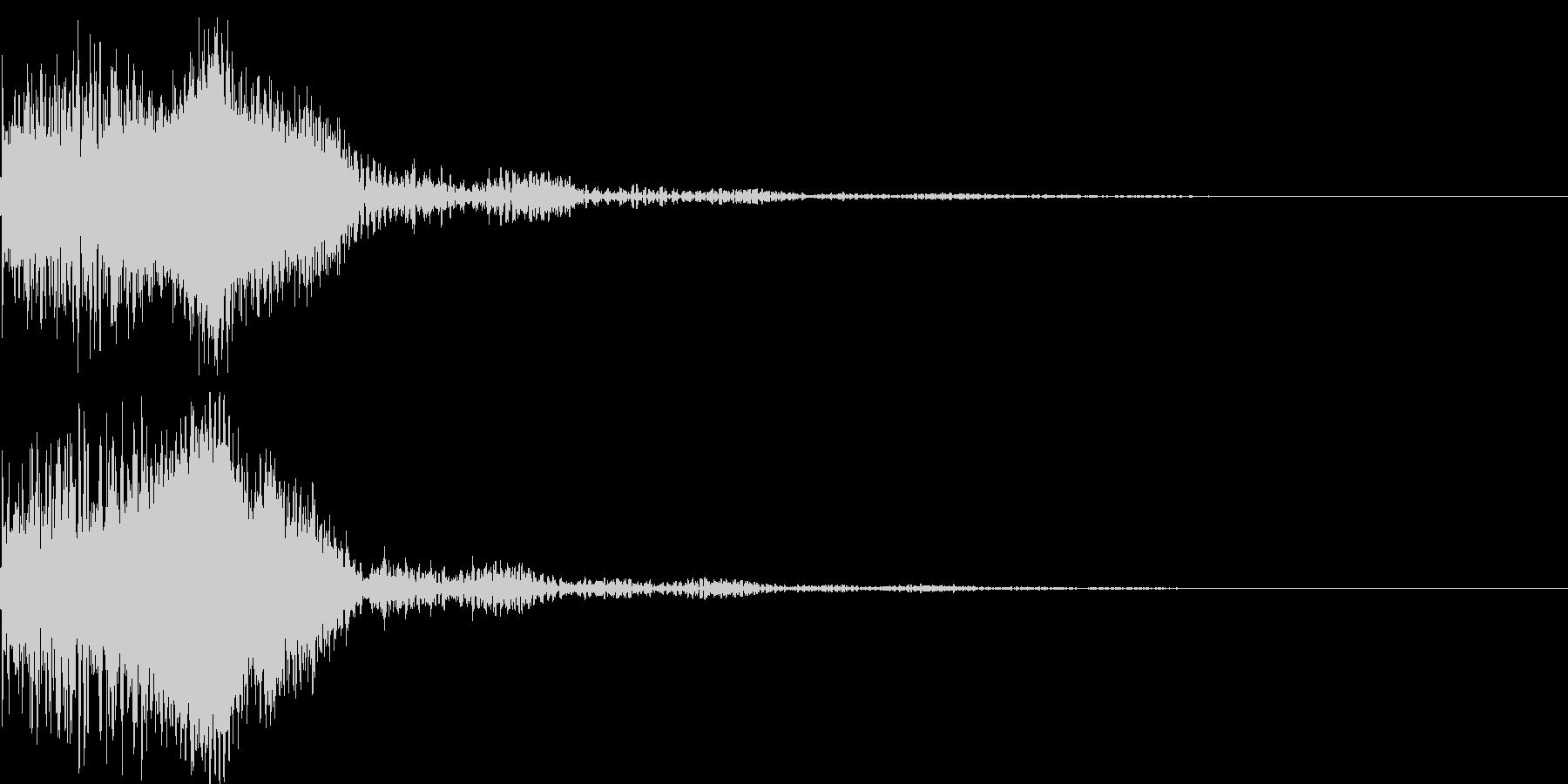 太鼓と尺八の和風インパクトジングル!06の未再生の波形