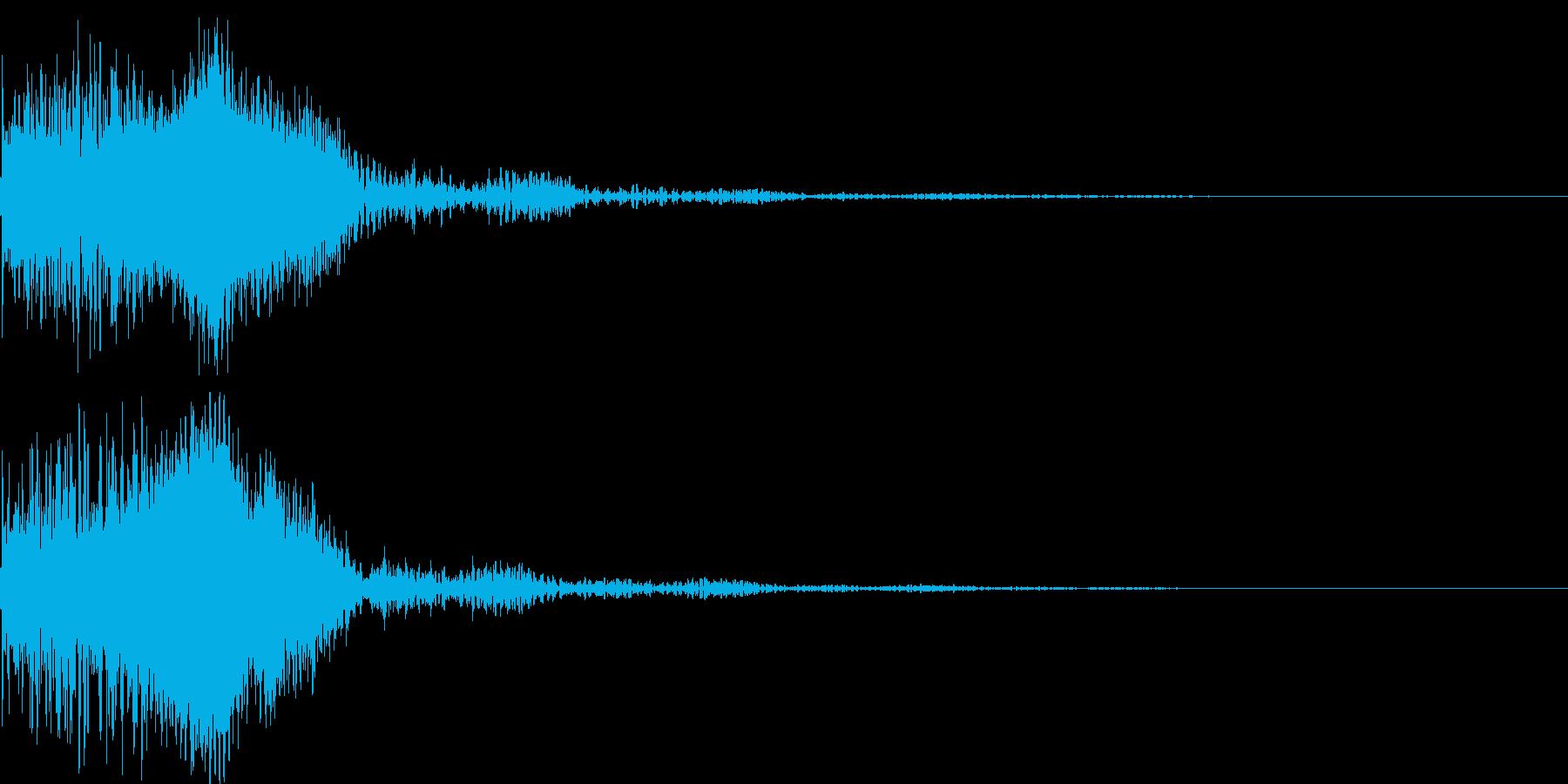 太鼓と尺八の和風インパクトジングル!06の再生済みの波形
