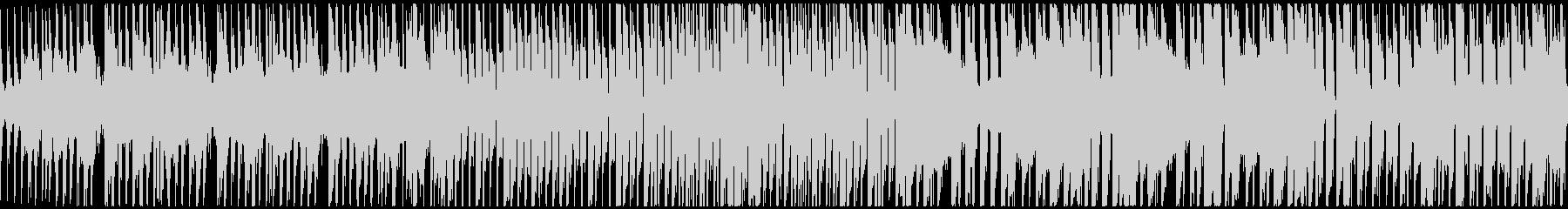 ピアノとブレイクビートのシンプルな曲の未再生の波形