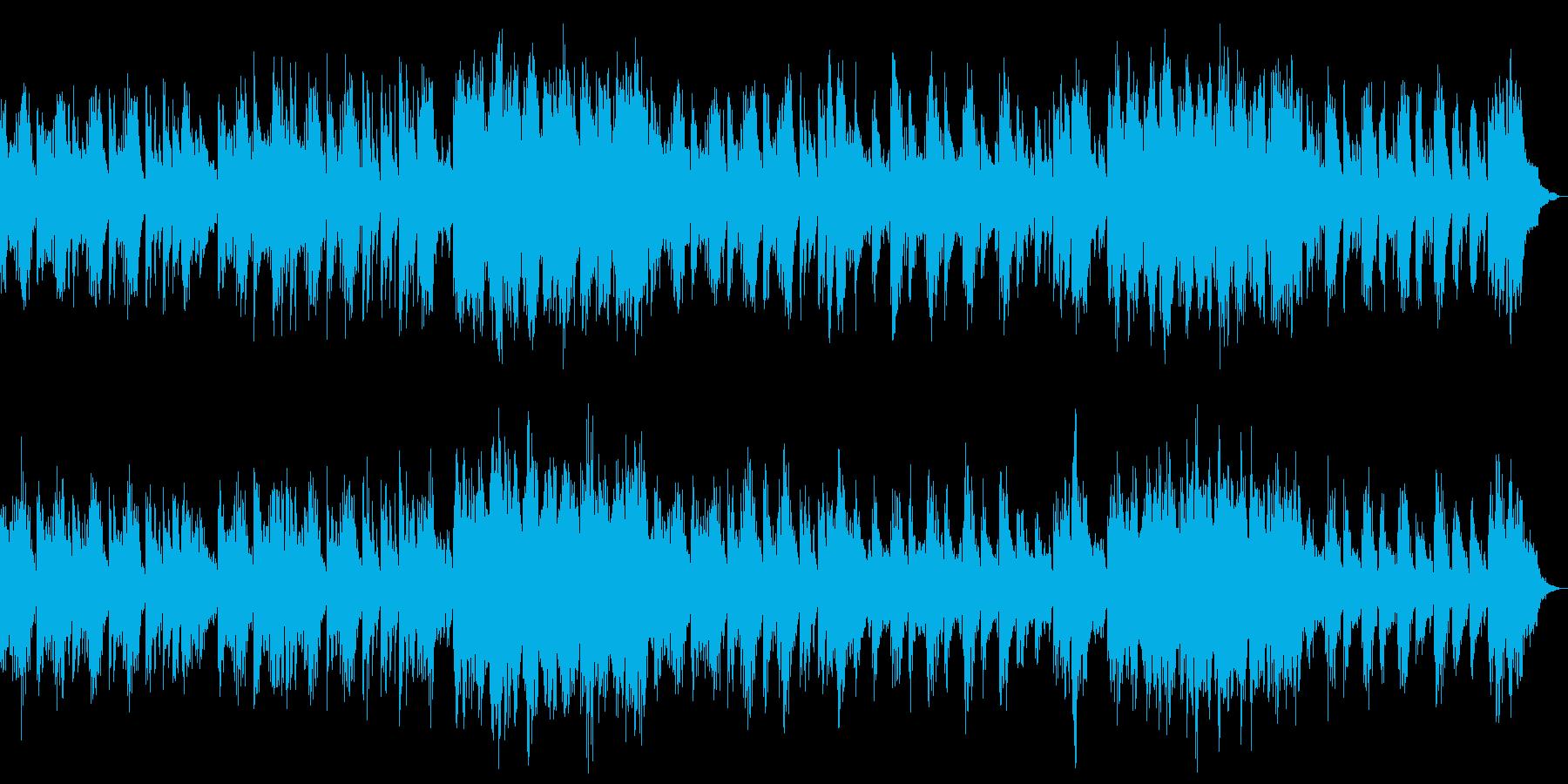 静かで冷たい電子音が響くバラードの再生済みの波形