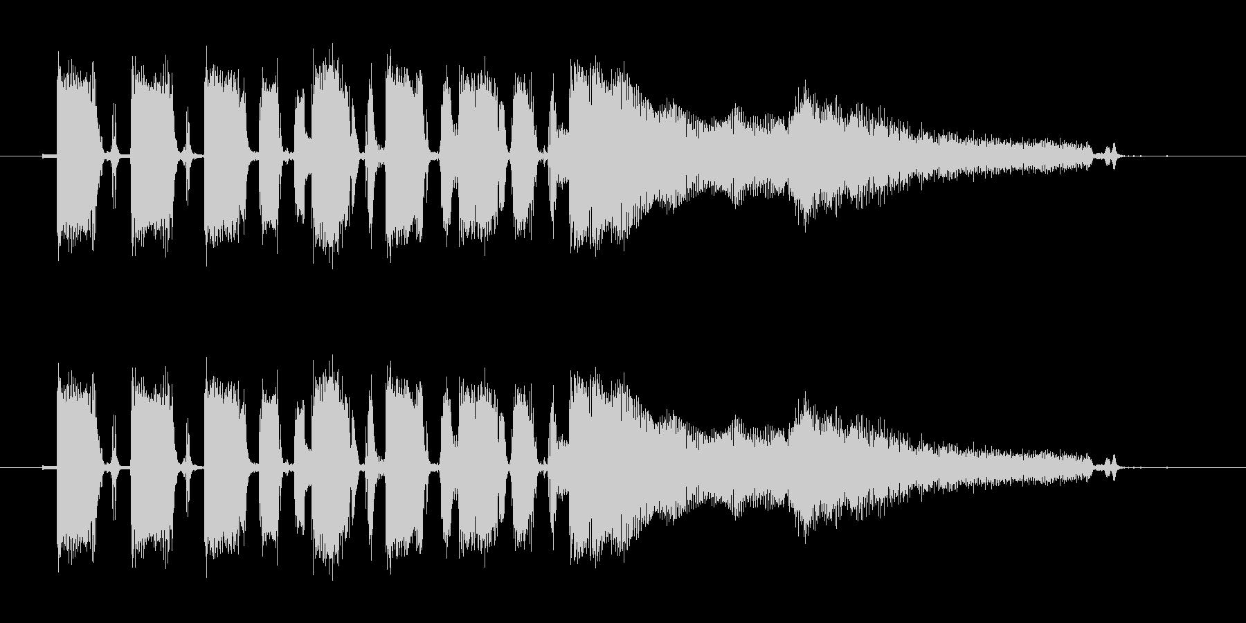 テープで録音されたようなギターのジングルの未再生の波形