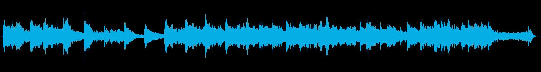 琴和風出囃子ジングルヨーロッパ風の再生済みの波形