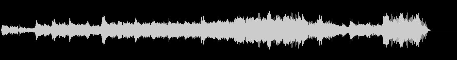 シンセサイザーの響き渡るヒーリングの未再生の波形