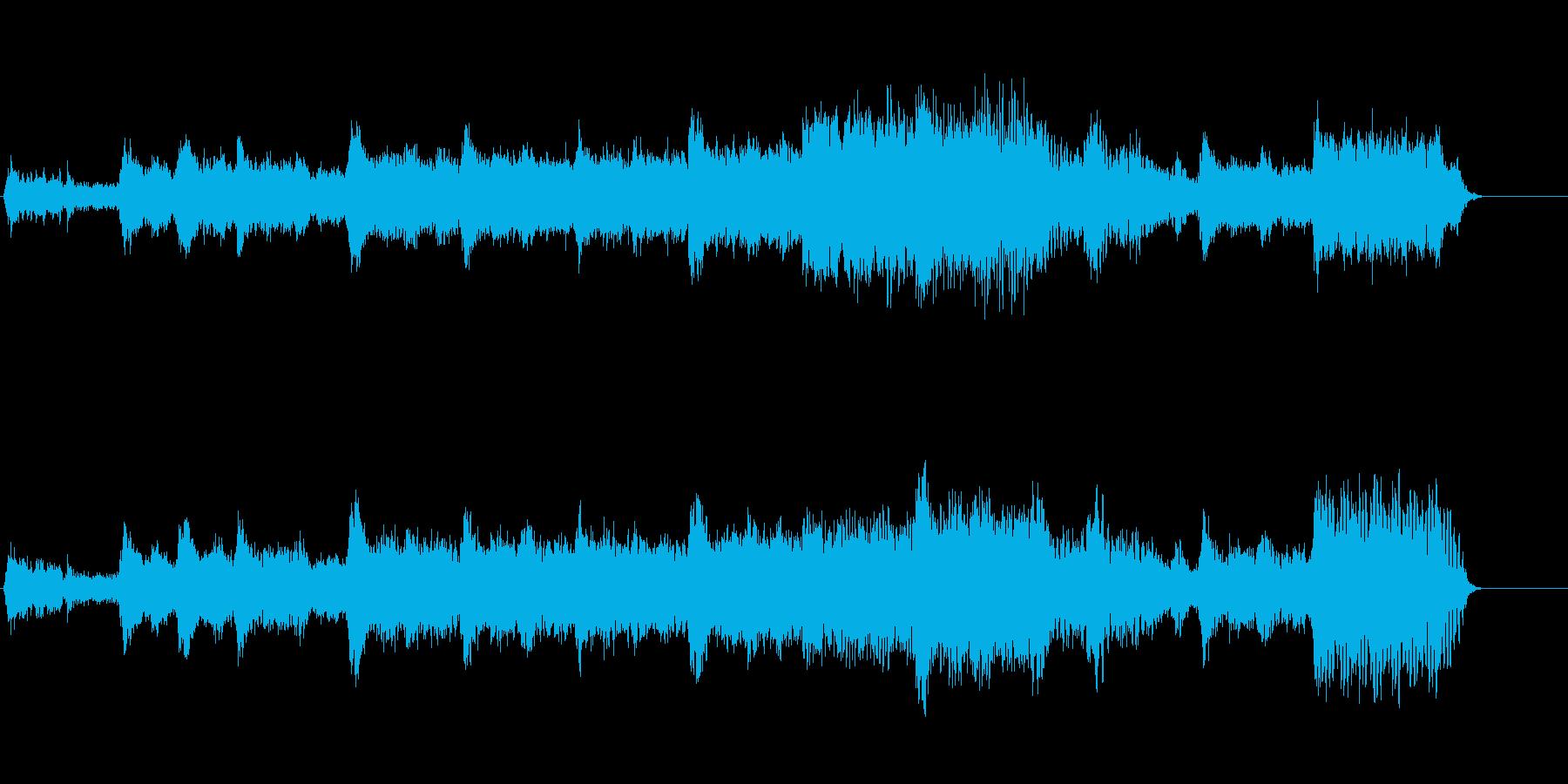 シンセサイザーの響き渡るヒーリングの再生済みの波形
