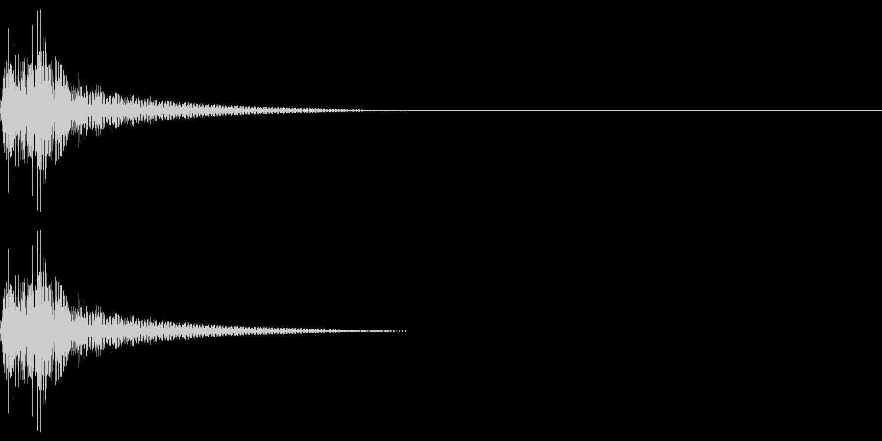 クリック音を想定しました。シンセサイザ…の未再生の波形