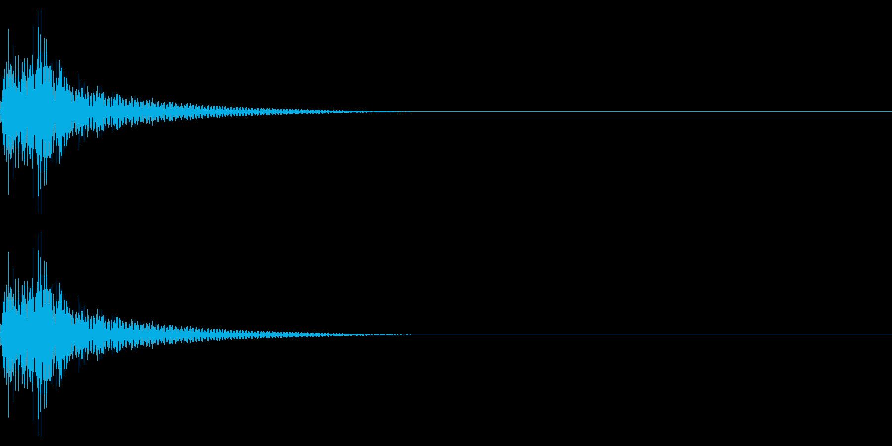クリック音を想定しました。シンセサイザ…の再生済みの波形
