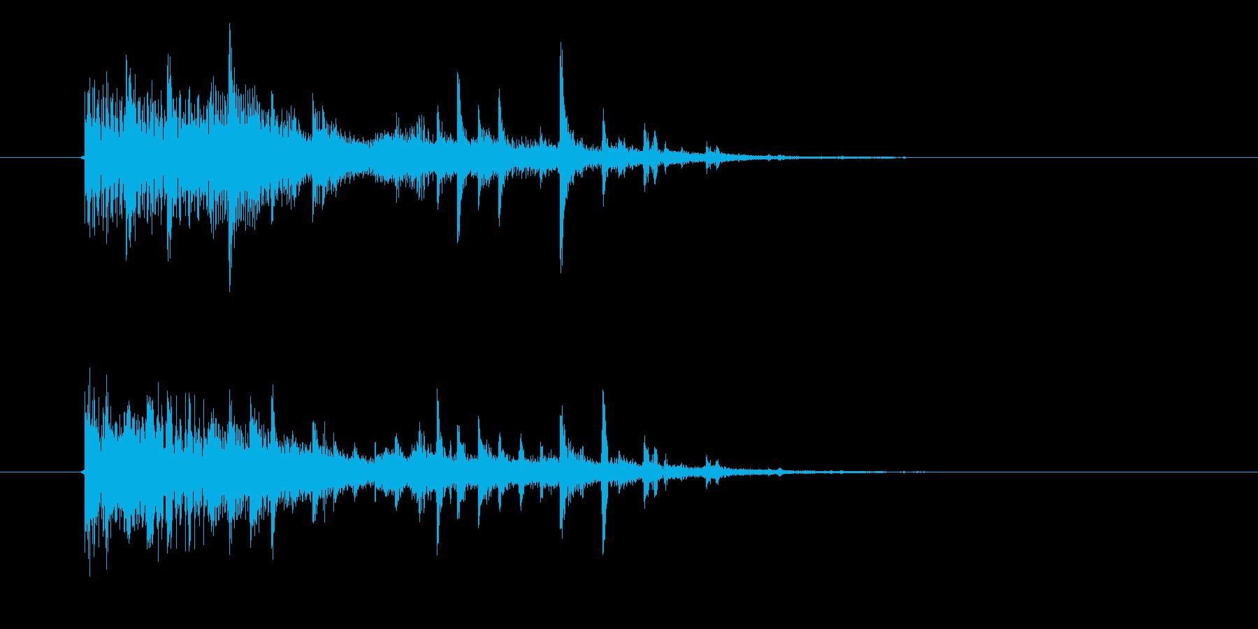 幻想的で静かなミュージックの再生済みの波形