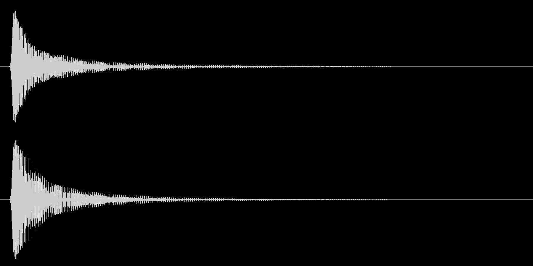 木琴/選択音/システム音の未再生の波形