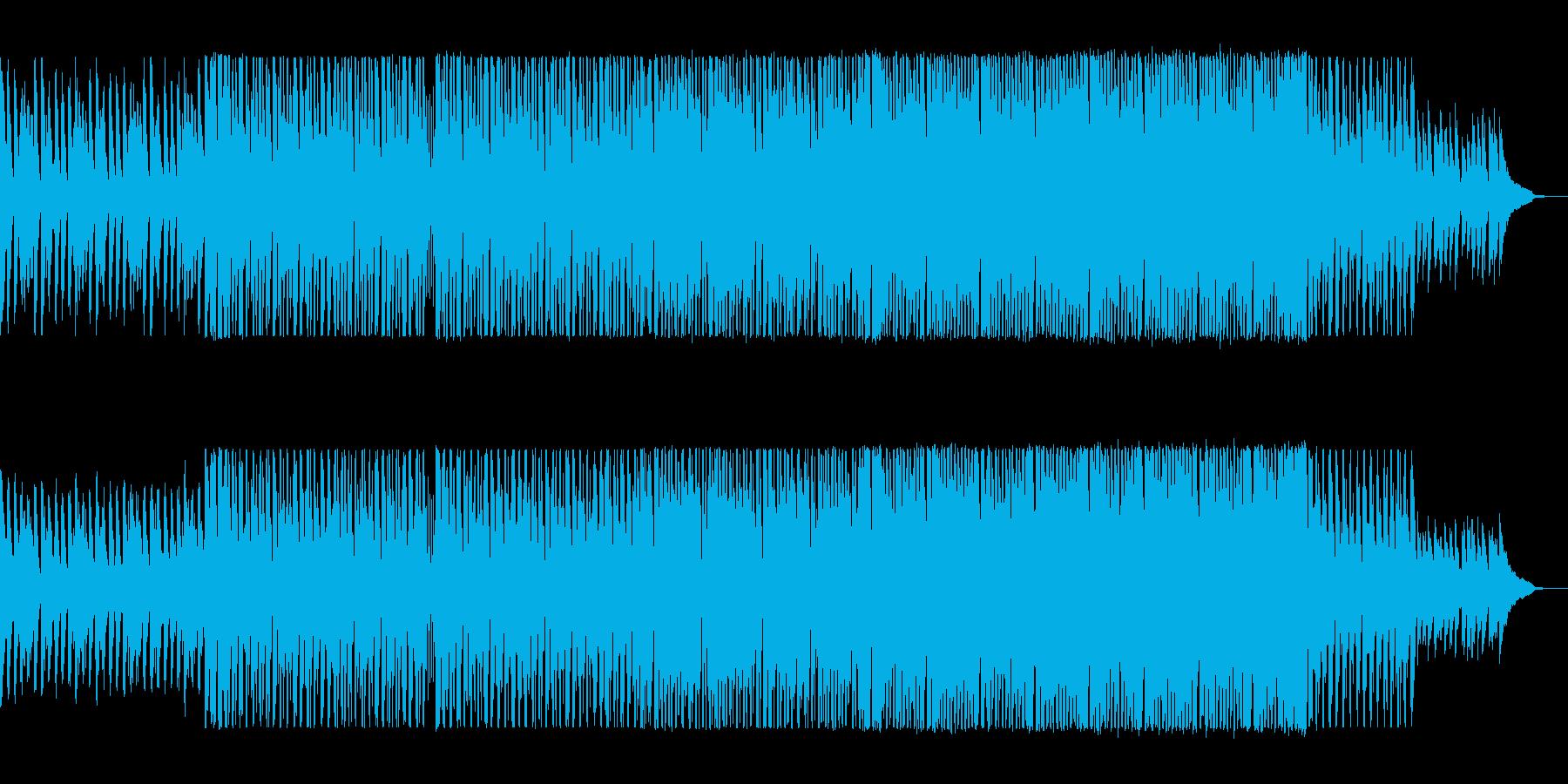 煌くような軽快で明るいピアノとシンセの曲の再生済みの波形