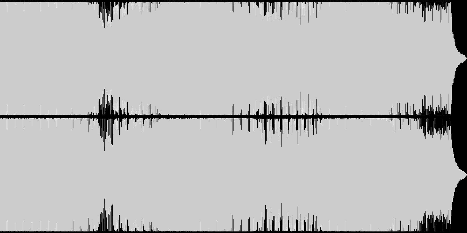 哀愁のあるエレクトロポップEDMの未再生の波形