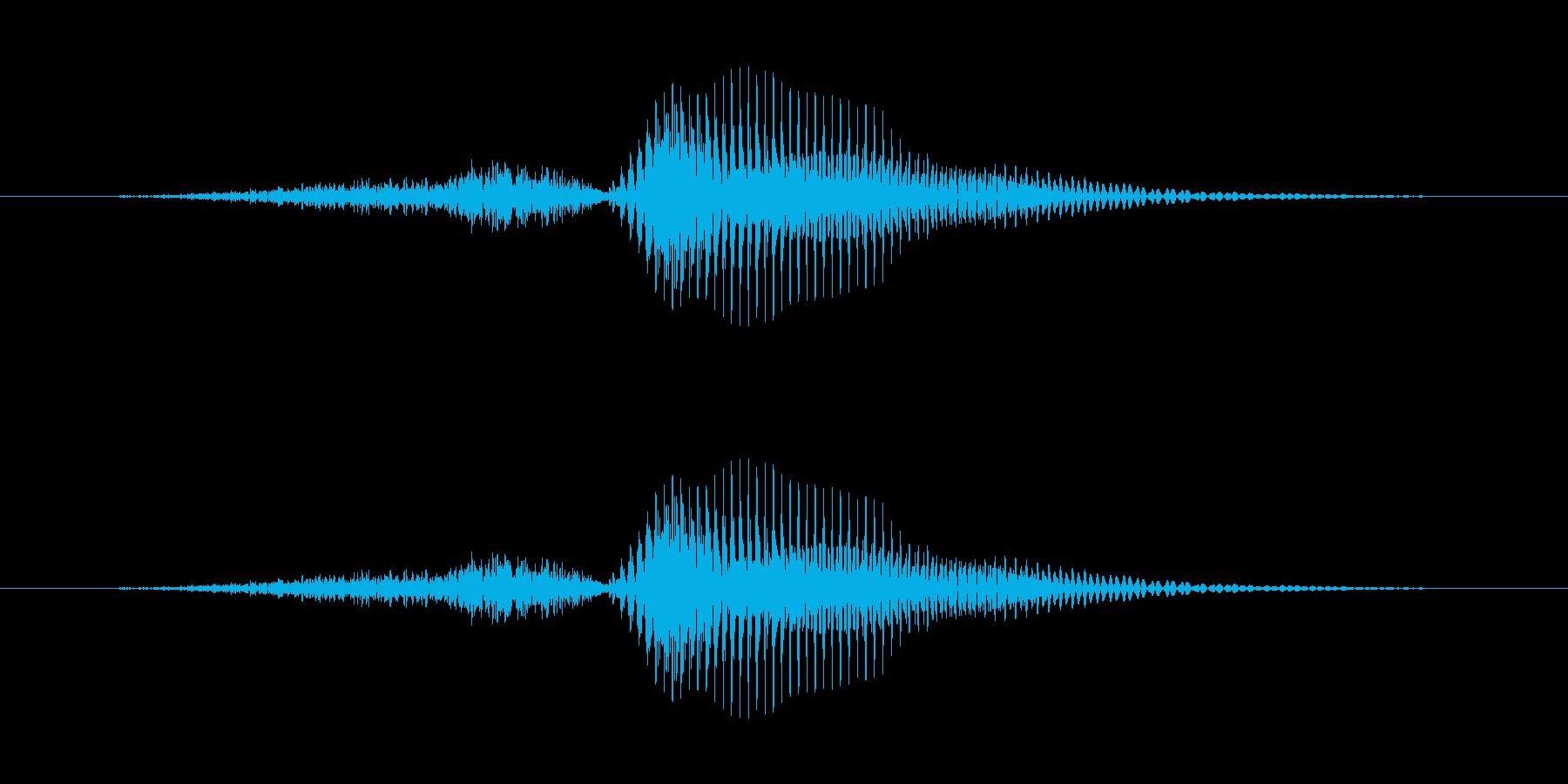 【数字】3(さん)の再生済みの波形