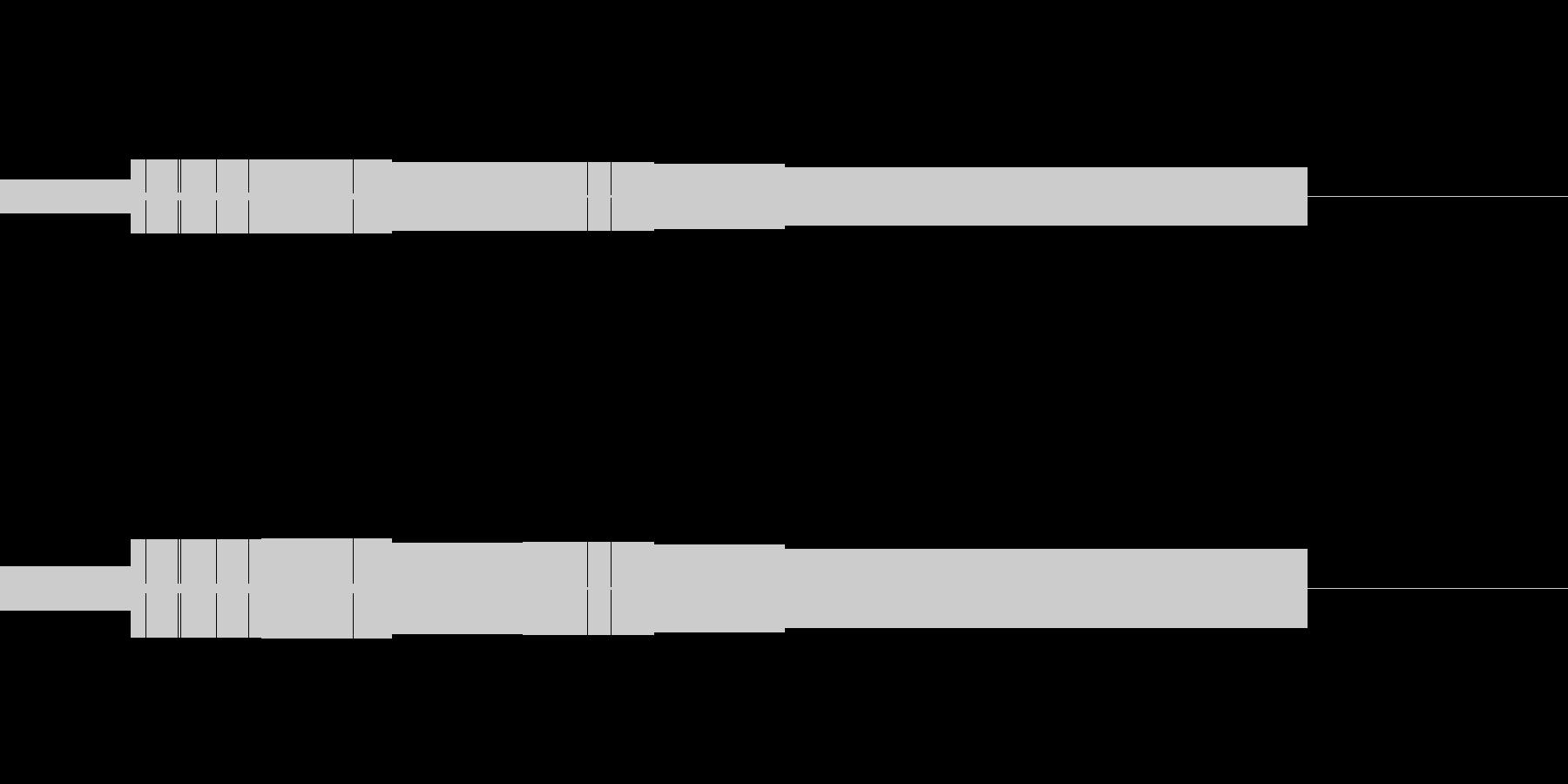 ファミコン風起動音02の未再生の波形