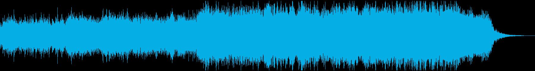 ピアノが印象的なシネマティックBGMの再生済みの波形