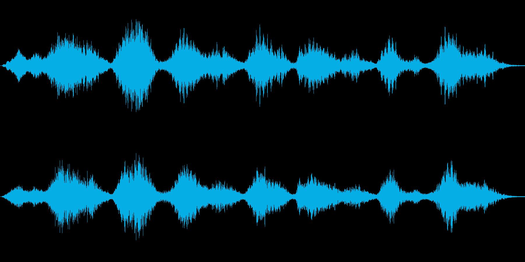 不安・恐怖・困惑な場面の背景音の再生済みの波形