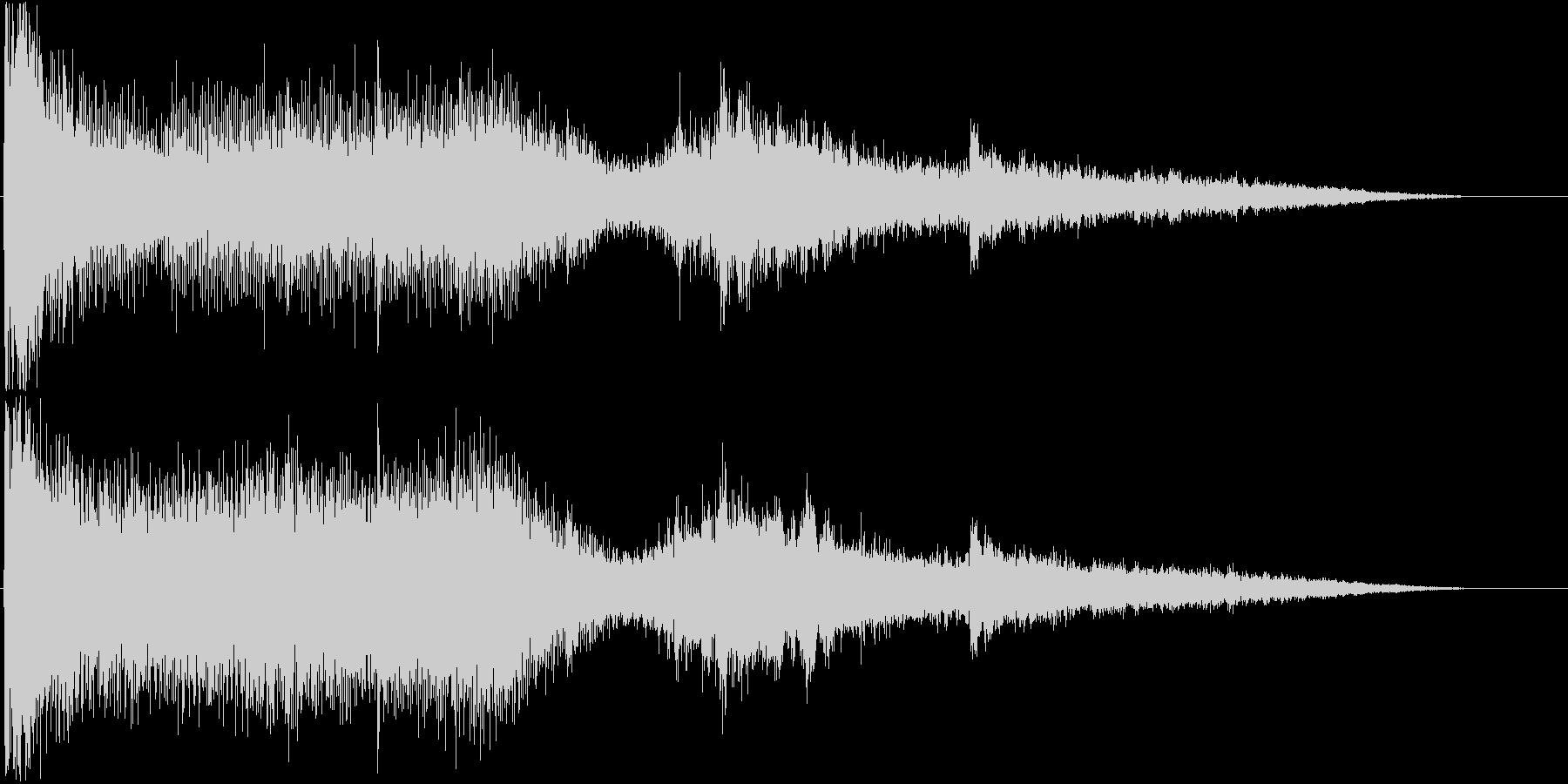 ホラーで使える効果音の未再生の波形