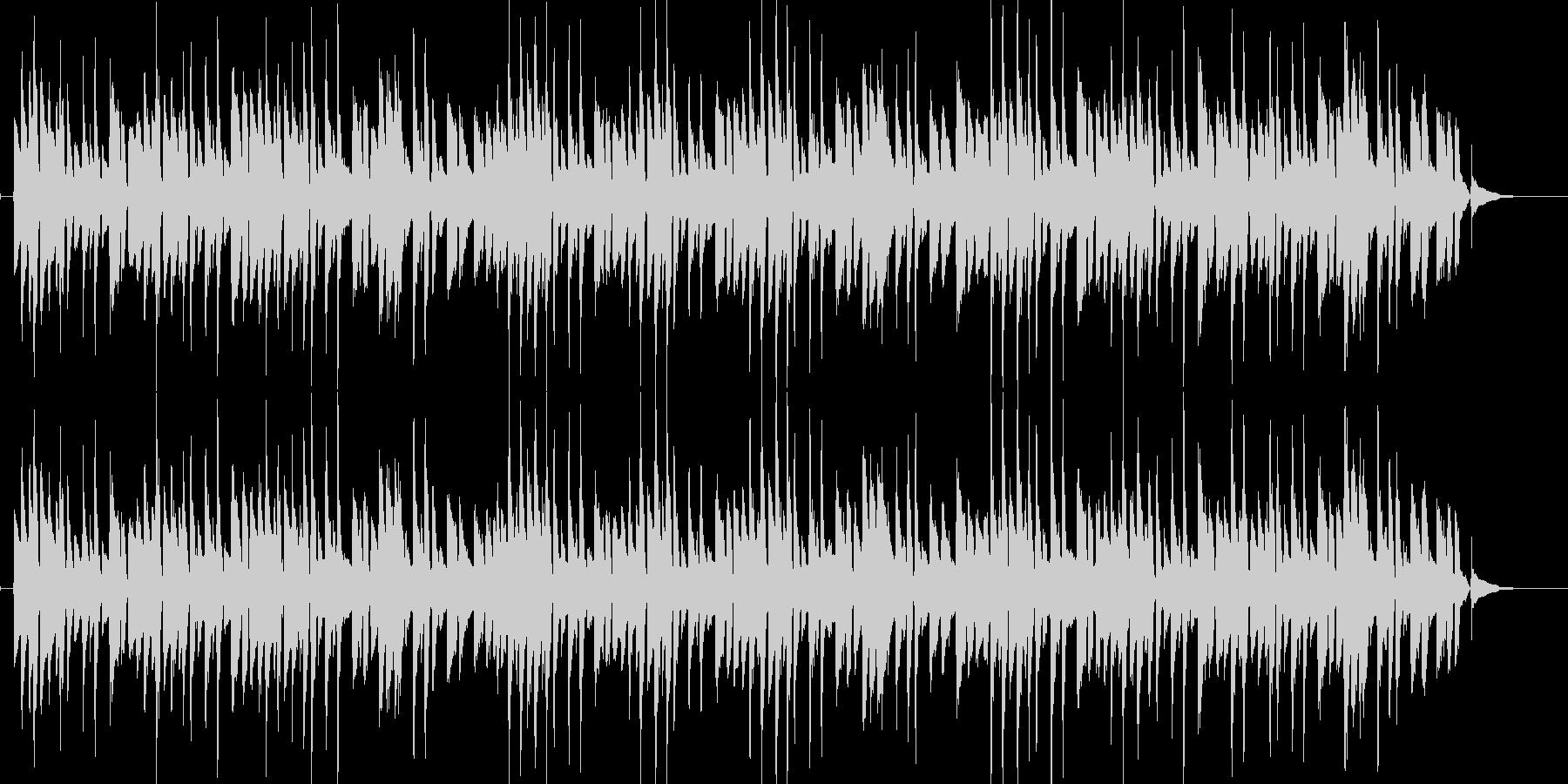 シンプルで軽快なボサノバギター演奏の未再生の波形