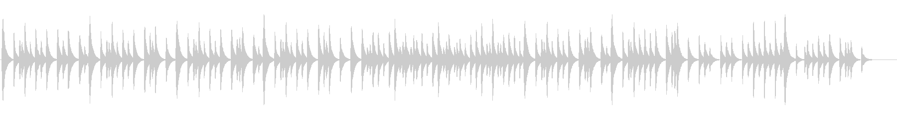 メンデルスゾーン「結婚行進曲」オルゴールの未再生の波形