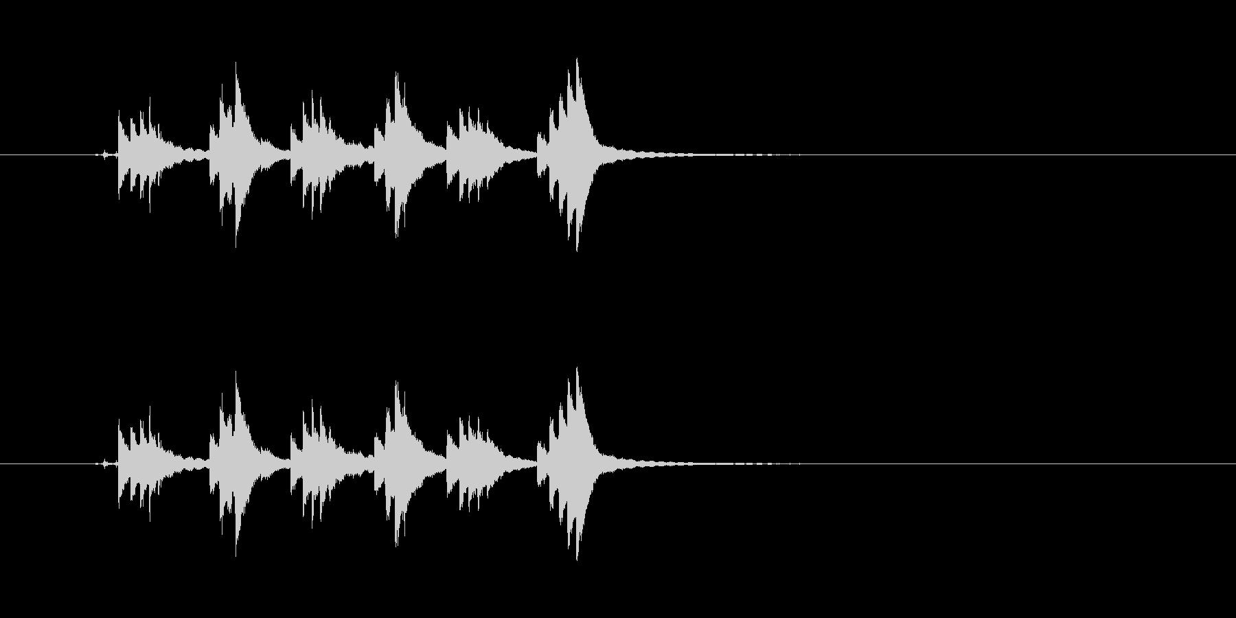 チリンチリンチリーン 自転車のベルの未再生の波形