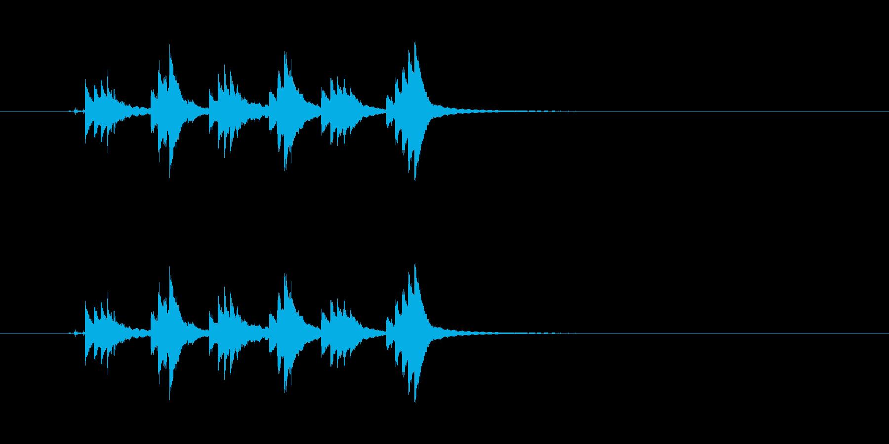 チリンチリンチリーン 自転車のベルの再生済みの波形