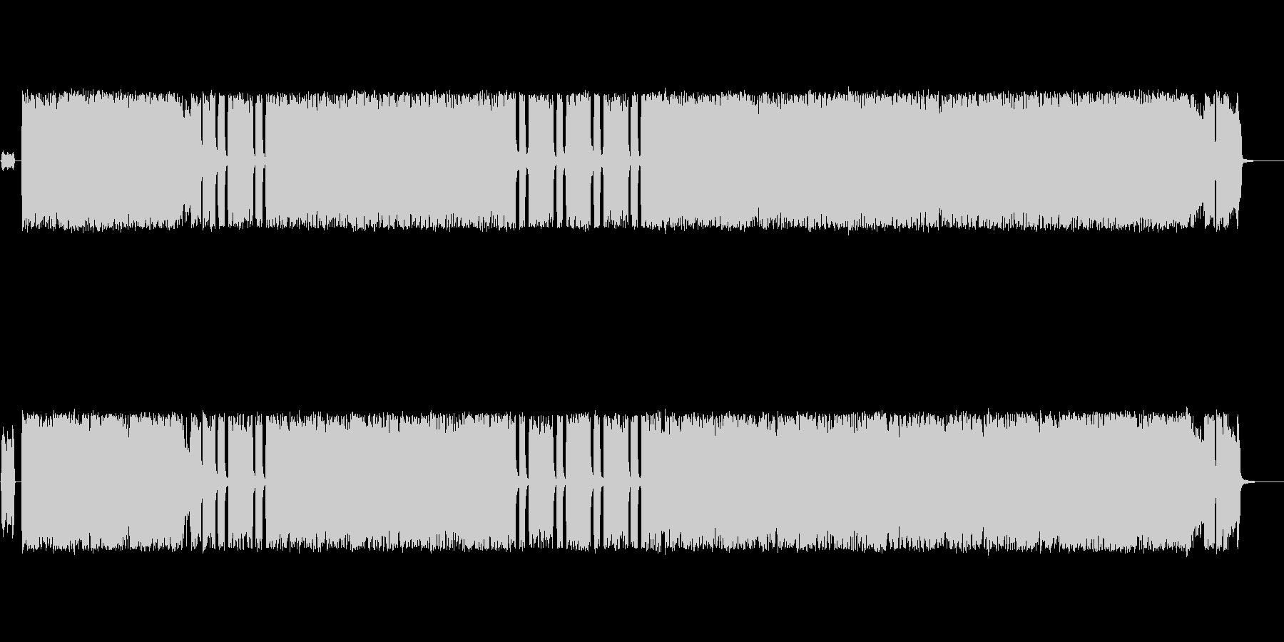 しっとりしたパンクロック・メロコア風の未再生の波形