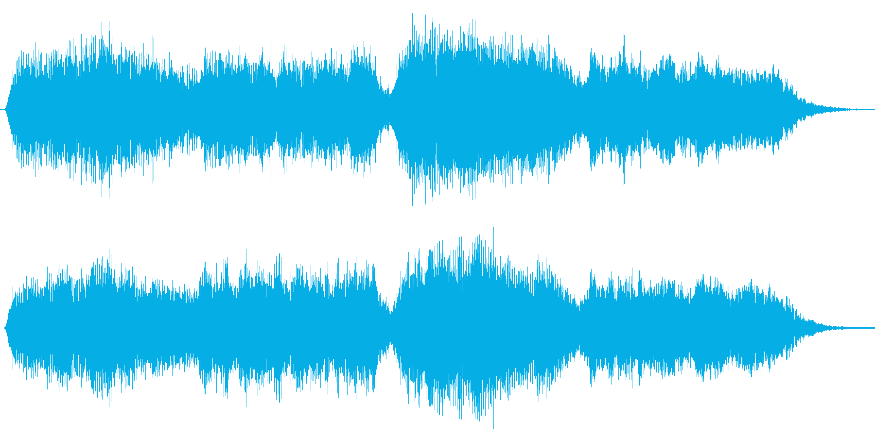 ジングル オーケストラ風 穏やか 平和的の再生済みの波形
