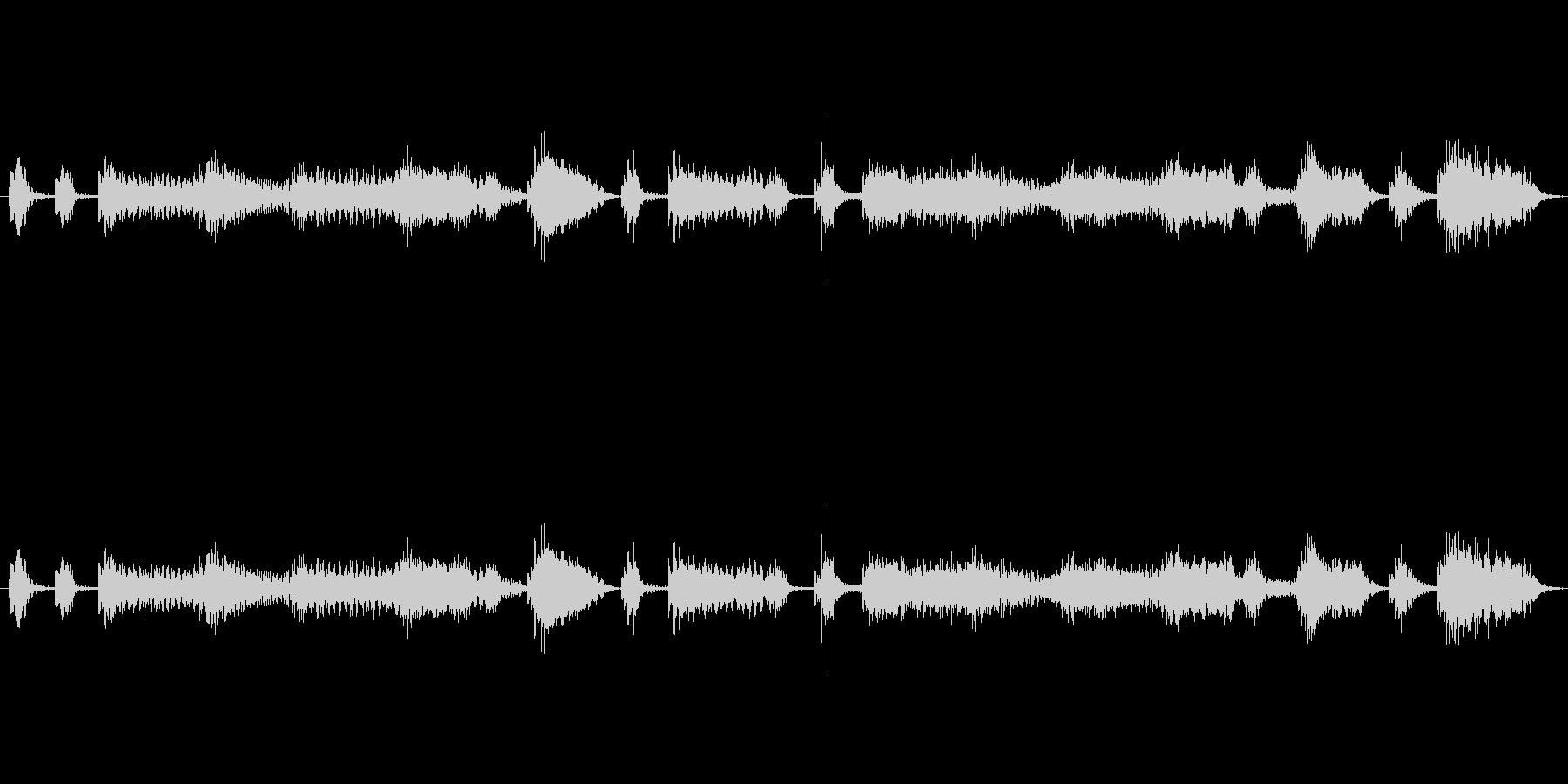 【エレキ ギター】クランチ・カッティングの未再生の波形