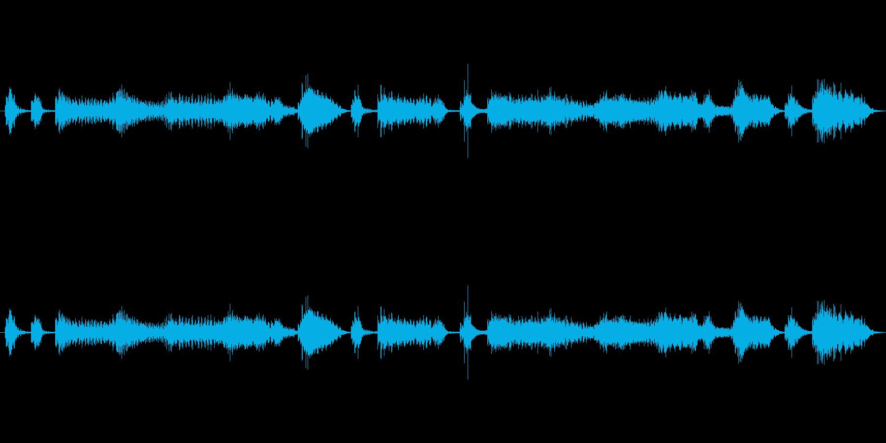 【エレキ ギター】クランチ・カッティングの再生済みの波形