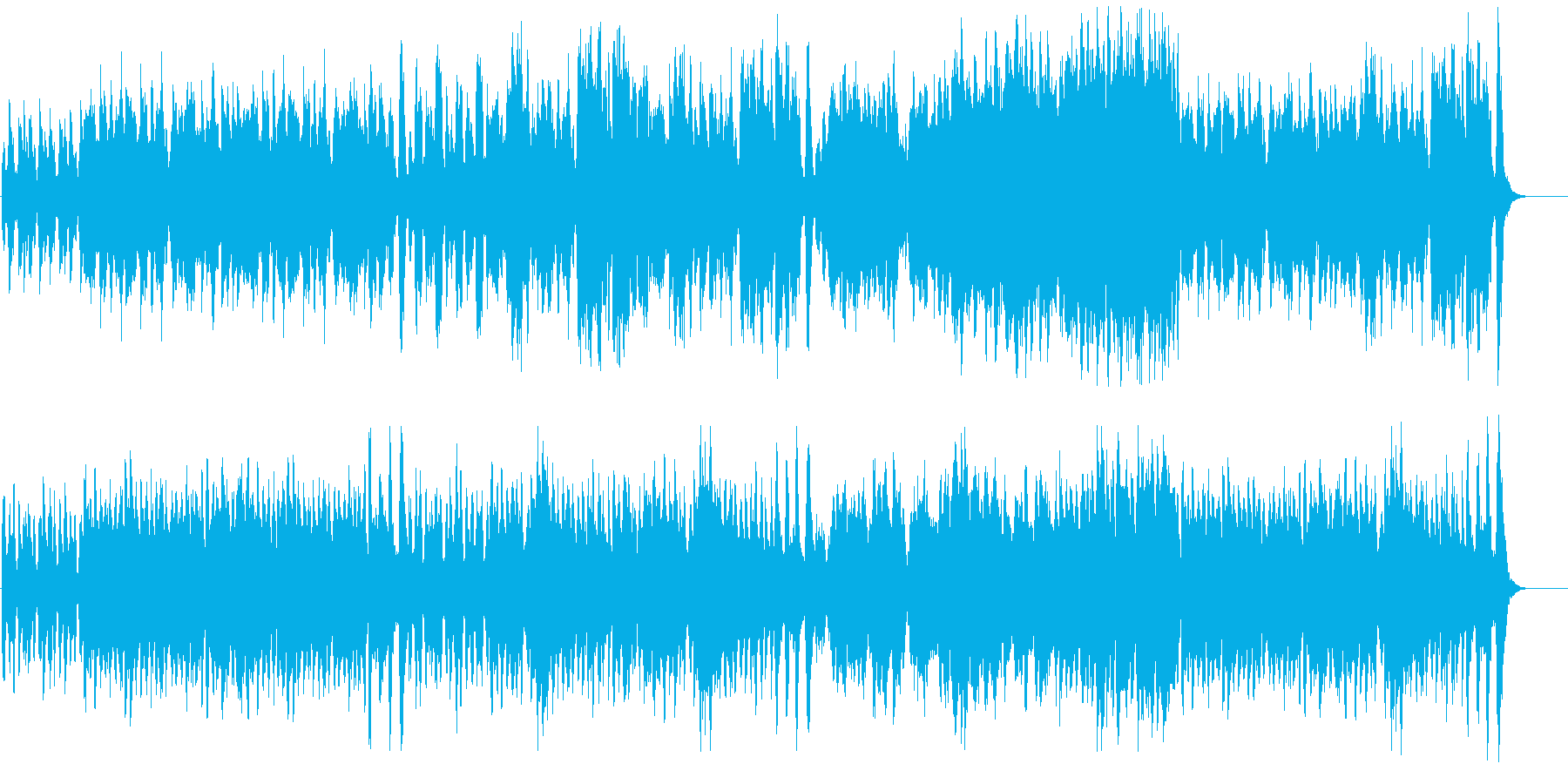 軽快で楽しいメルヘンオーケストラの再生済みの波形