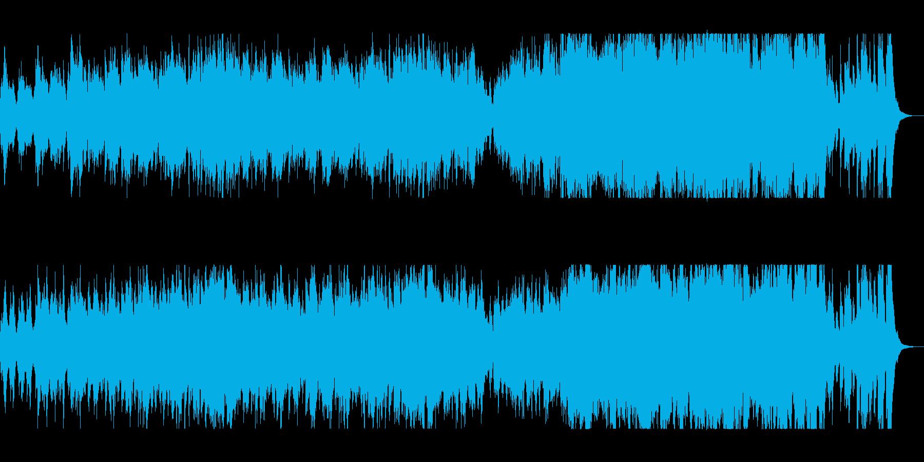 ミディアムテンポで重厚な交響曲の再生済みの波形