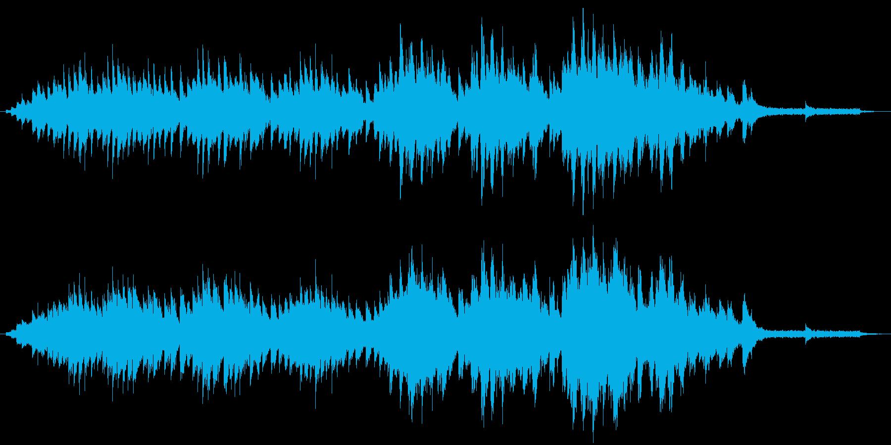 木枯らし吹く秋の風景のピアノソロの再生済みの波形