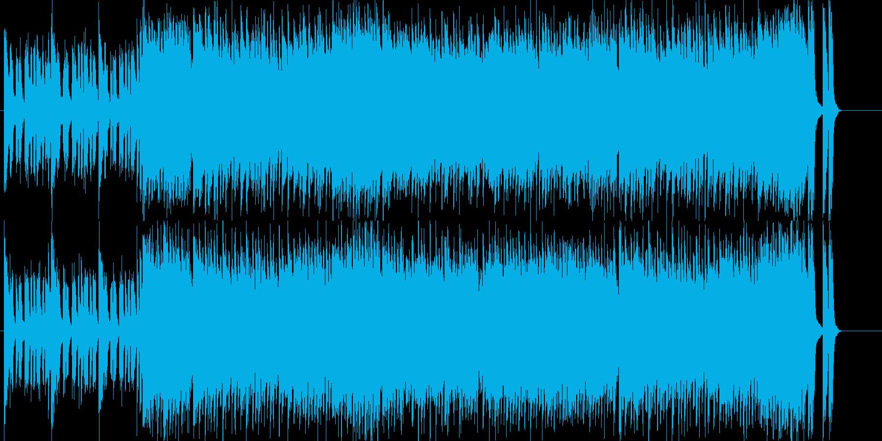 オープニングにぴったりの元気の良いポップの再生済みの波形