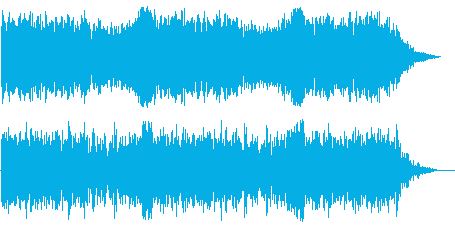 RPGのフィールド場面BGMの再生済みの波形