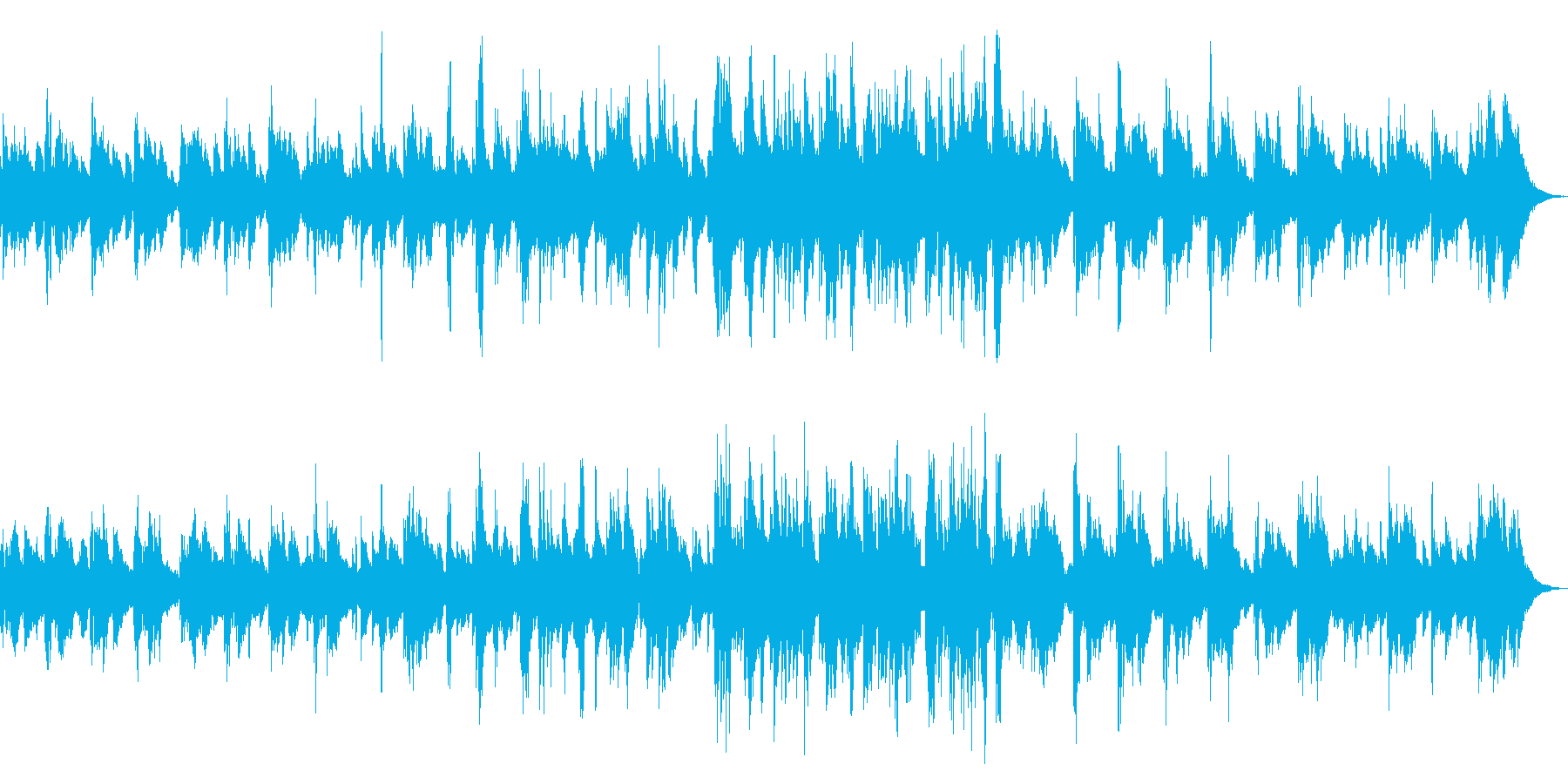 ジャジーでスモーキーなピアノソロの再生済みの波形