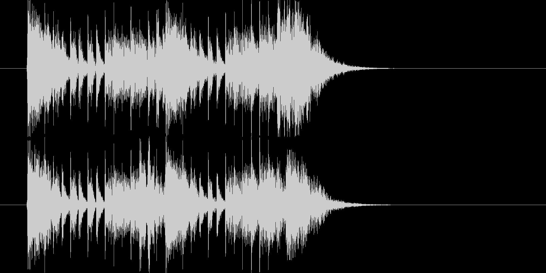 緊迫感のあるポップスによるジングル曲の未再生の波形