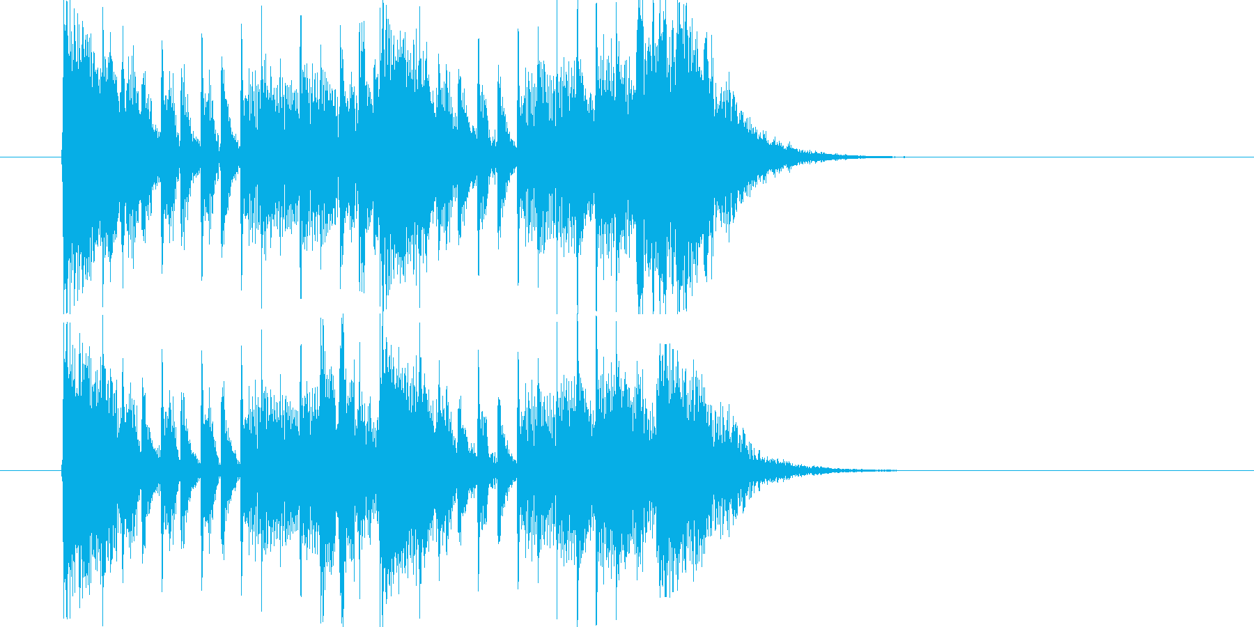 緊迫感のあるポップスによるジングル曲の再生済みの波形