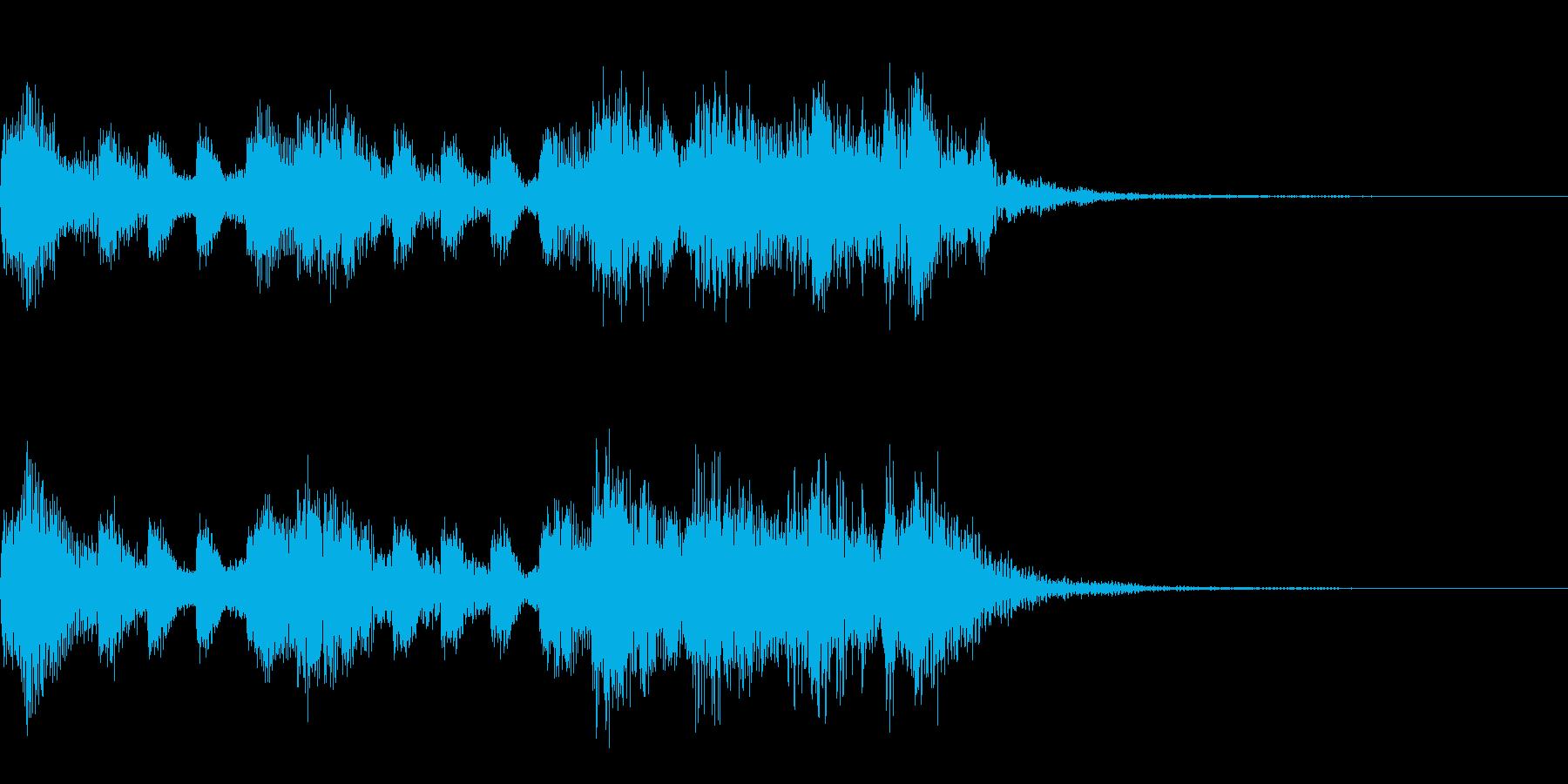 多用途ジングル-2の再生済みの波形