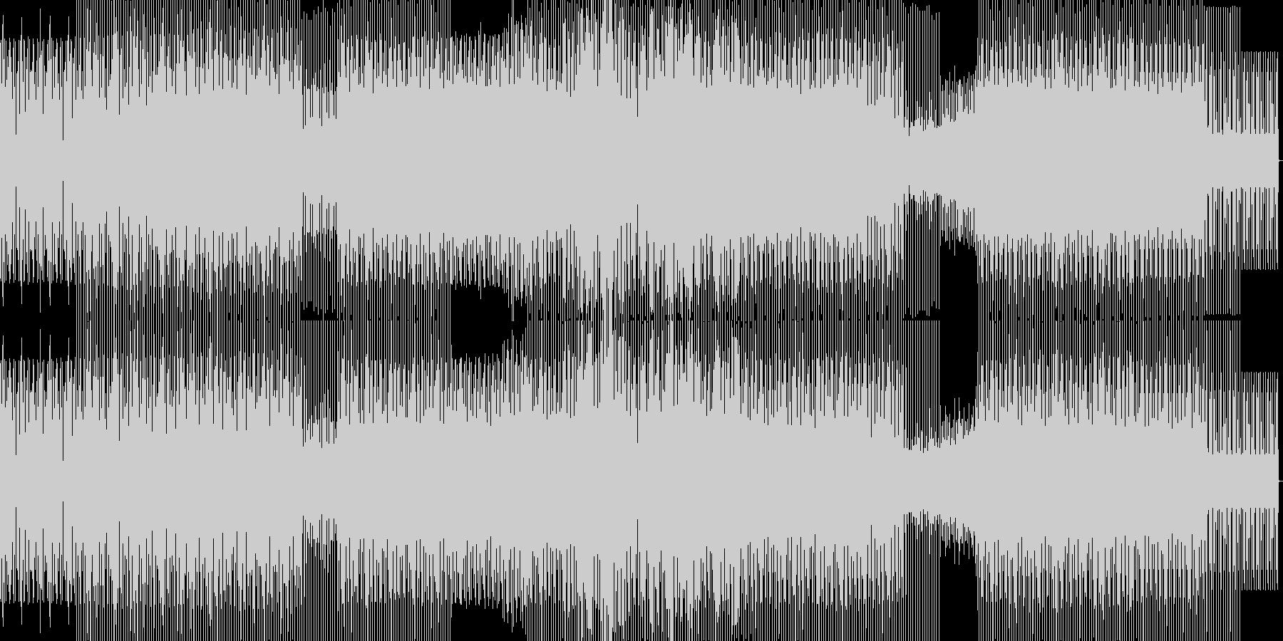 重たいハウスの未再生の波形