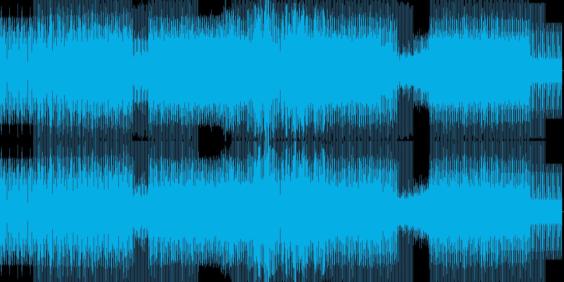 重たいハウスの再生済みの波形