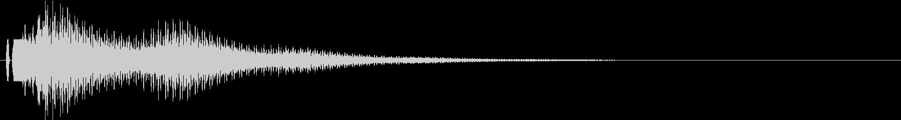 決定音。シンセ。「ポローン」の未再生の波形
