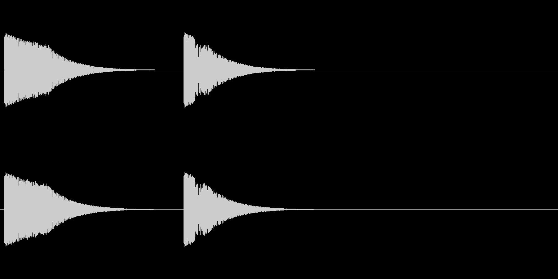 シューティング ショット音 プシュンの未再生の波形