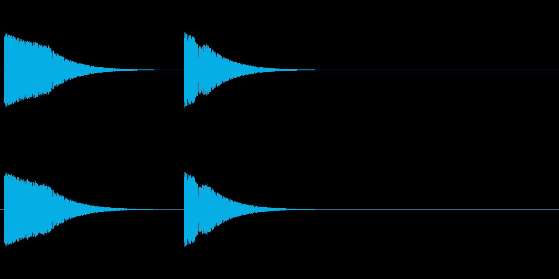 シューティング ショット音 プシュンの再生済みの波形