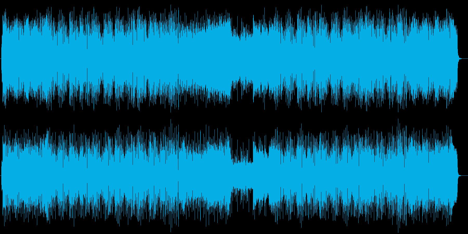 明るく広がりのあるゆったりした平和な曲の再生済みの波形