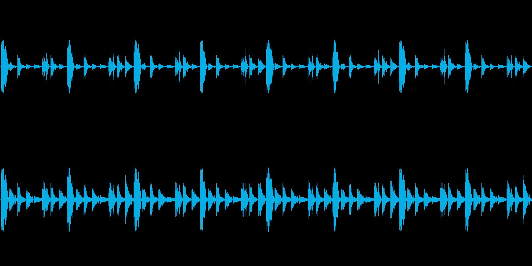 制作方法REASONのサンプラーでTE…の再生済みの波形