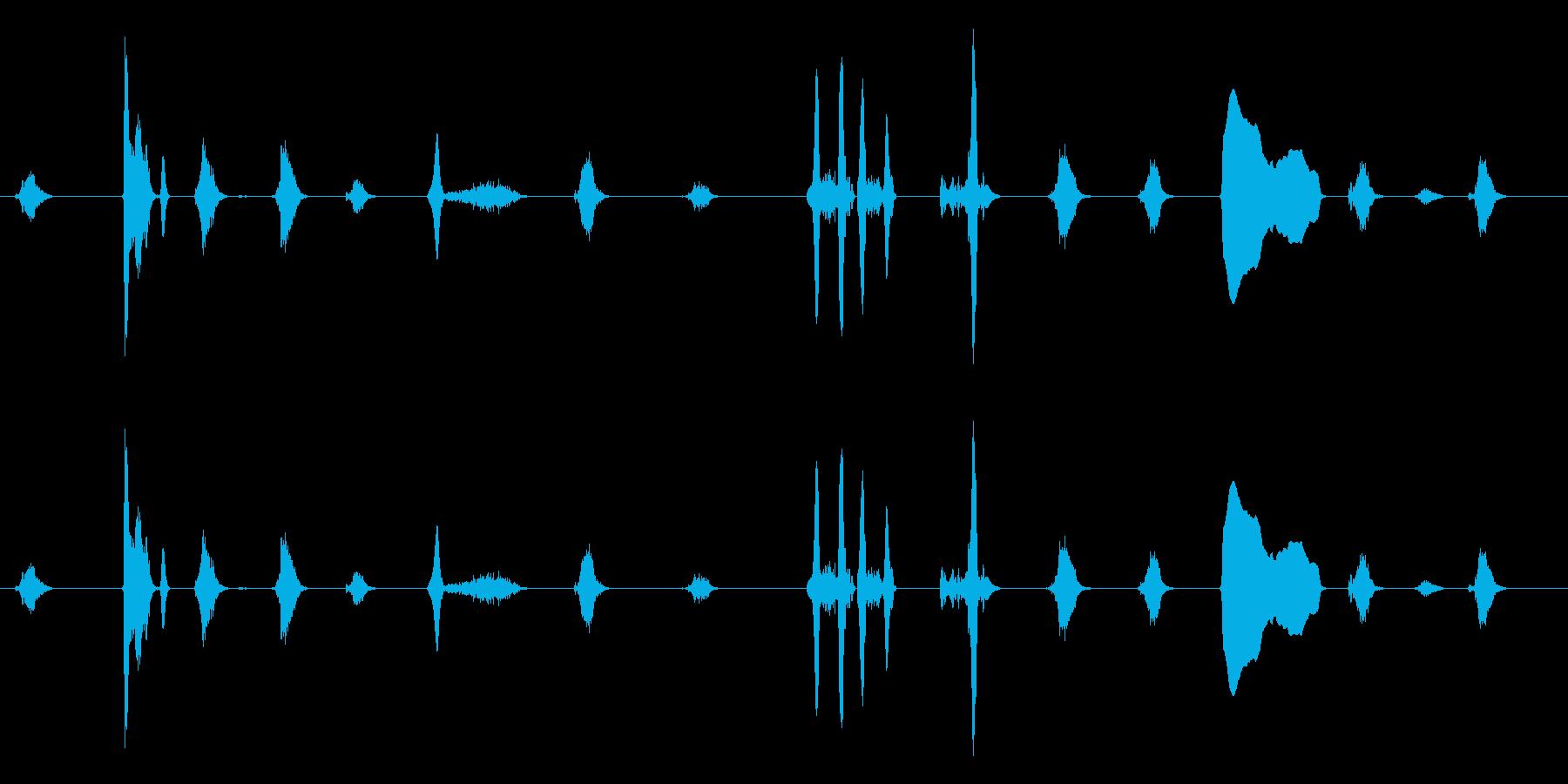 泣き1(ループ可)【すすり泣き】の再生済みの波形