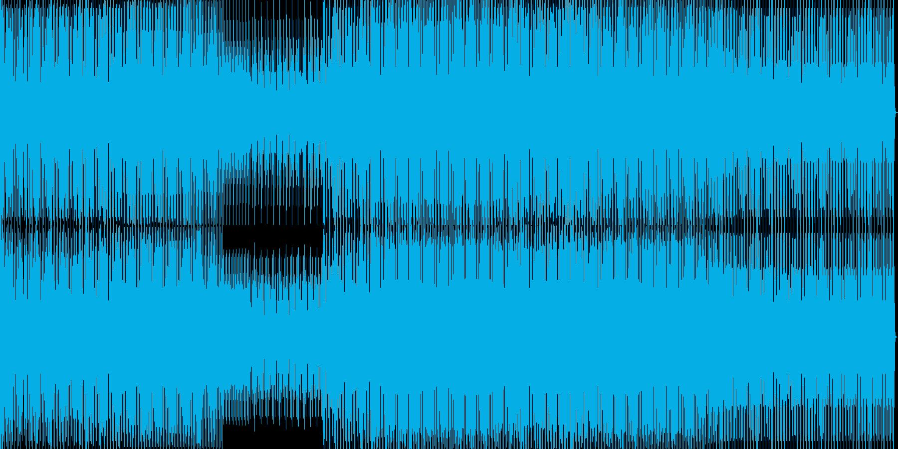 暗いダークなミニマルハウスの再生済みの波形