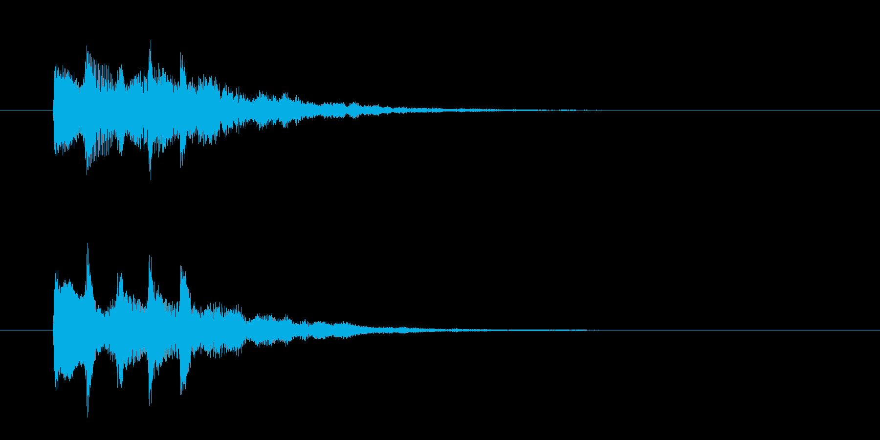 IT系サウンドロゴ『輝き、宝石』の再生済みの波形