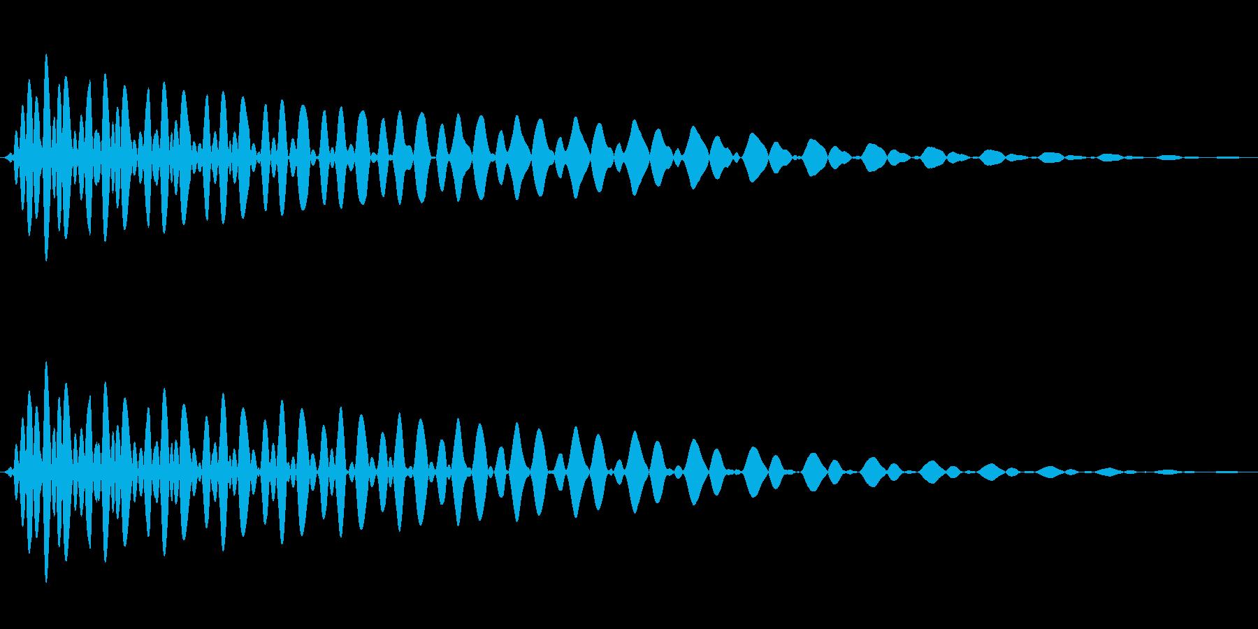 PureTouch アプリ用タッチ音66の再生済みの波形